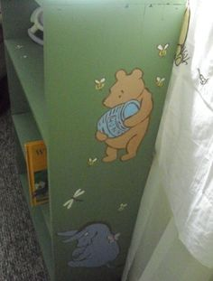 Classic Pooh bookcase: this would be pretty easy to DIY!