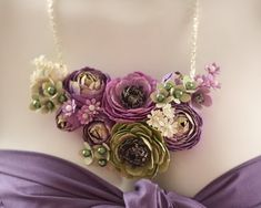 old paper, flower inspir, flower jewelry, necklac, wedding flowers, paper flowers, fresh flowers, blush, wedding papers