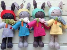 Thistledown Rabbits - pattern by May Blossom