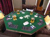 man cave, poker table diy, hous idea, diy poker table, game table diy