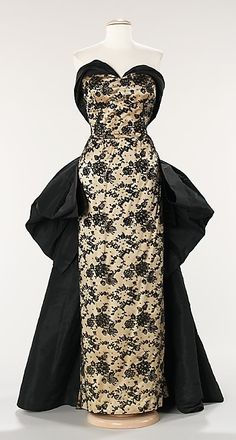 Evening dress House of Balmain (French, founded 1945) Designer: Pierre Balmain (French, St. Jean de Maurienne 1914–1982 Paris) Date: 1953 Culture: French Medium: silk, rhinestones