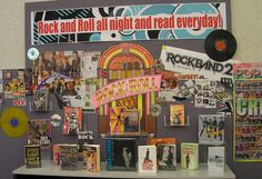 Teen music display at Parr Library!