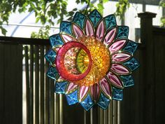 Taken at the waterlilly festival yard art glass!