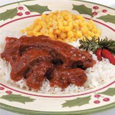 Round Steak Recipes.Barbecued Round Steak Recipe.Taste of Home Recipes.