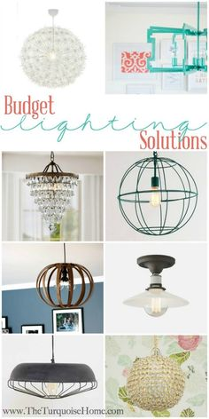 Budget Lighting Solutions | TheTurquoiseHome.com