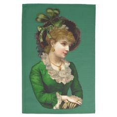 Wearing the Green on St Patrick's Day #kitchentowel #kitchen #stpatricksday