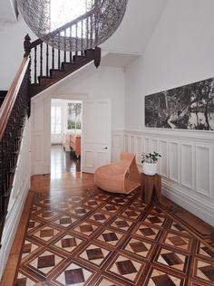 Victorian Entryway - modern updates
