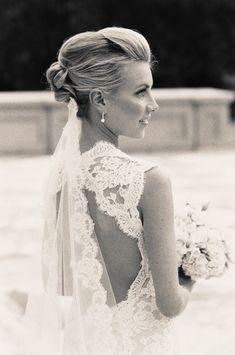 beautiful dress and hair