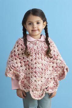 childrens crochet poncho