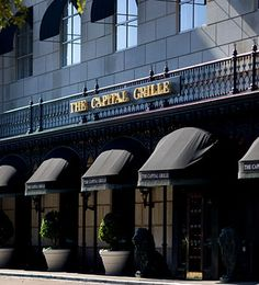 The Capital Grille 500 Crescent Ct #135 Dallas, TX 75201 Hrs. 11:00 am – 10:00 pm Try the Lobster Mac n Cheese. The Steak tartare is not on the menu anymore but they'll make it and it's the best...sauteed calamari with peppers, great lobster bisque