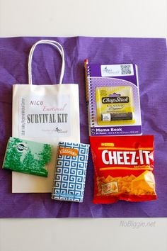 NICU Emotional Survival Kit. For the parents of babies who have to stay in the NICU.   #itsaboutgiving