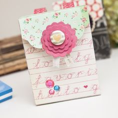Another back pack gift box, perfect for back to school. Designed by Stephanie Bryan. Check out the tutorial on our blog! #backtoschool