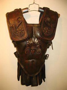 roman armor - brown leather