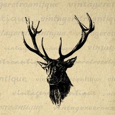 Printable high quality digital antique deer illustration image download for iron on transfers, printing, tea towels, and many other uses. Real antique clip art. This vintage deer with antlers image is high quality, high resolution at 8½ x 11 inches. Need a larger size? This image can be upsized to any nearly size without quality loss. Transparent background version included with every graphic. Vector format available. Shop more and save Save up to 50% on your order, see the ...