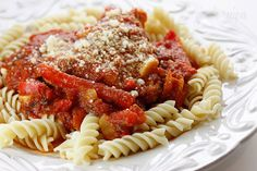 Chicken Cacciatore #kidfriendly #pasta #dinner