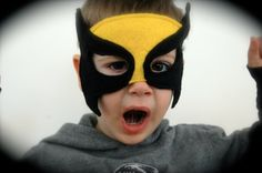 Felt Wolverine Superhero Mask by thedapperdodo on Etsy, $13.00