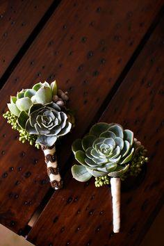 More succulent boutonnieres