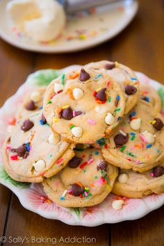 Chocolate chip cookies AND cake batter in one! So good, they've been featured in a magazine...