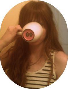 DIY- animal nose coffee mug bottom