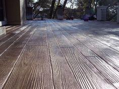 Hardwood stamped concrete