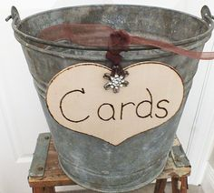 Rustic wedding cards sign DIY card box sign by ButterBeanVintage, $18.50