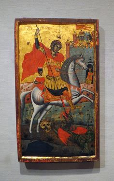 St George and the Dragon ca 1750 - School of Epirus - Krannert Art Museum | Flickr - Photo Sharing!