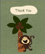 Free Printable Monkey Baby Shower Thank You Cards