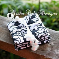 Quilted Coasters Set of 4 Black and White by mishacoledesigns, $12.00