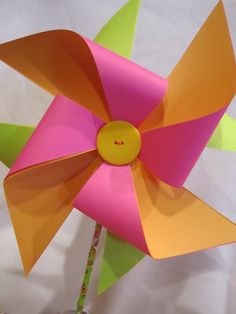 How to make a paper pinwheel.