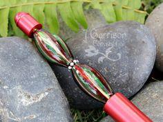 Elegant Venetian glass ballpoint pen Red metallic by cuteandfun