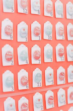 escort cards, button, seating cards