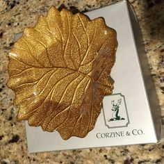 Give the perfect fall gift- a gold leaf bowl from Corzine & Co!