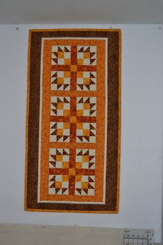 Fall table runner for an exchange.  Pattern is Fresh and Fancy by Cottonway