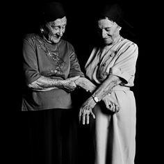 """Hanna Tessler, 86, left, and her sister, Sara Tessler, 83. """"We''ve seen each other every day for the last 70 years, checking up on one another,"""" Hanna said."""