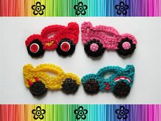 Race Car Applique  CROCHET PATTERN by EverLaughter on Etsy, (already own)