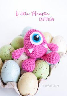 Little Monster Easter Egg Crochet Pattern. adorable!