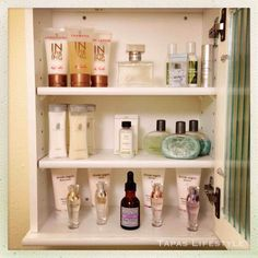 Organize Your Medicine Cabinet and your lotions and potions