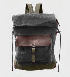 Charcoal Waxed Canvas Backpack | Women's Bags & Wallets | McLoveBuddy | Scoutmob Shoppe | Product Detail