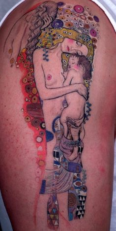 """Gustav Klimt's """"Mother and Child"""" Tattoo   I want to get for Elliot"""