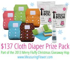 Enter to win a $132 cloth diaper prize pack! #giveaway #sweepstakes #kids #toddler #fluffyxmas