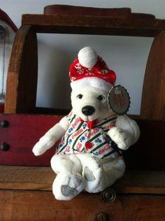 Coca-Cola polar bear beanie plush animal