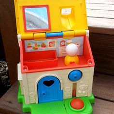 Vintage+80s+Fisher+Price+Toy+House+by+LogansVintageShop+on+Etsy,+$14.00