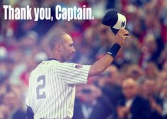 Jeter tips his hat off to the crowd after his final All Star Game. RE2PECT.
