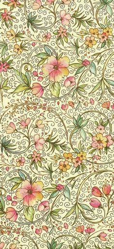 paper form, pattern, floral paper