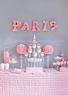 Paris Valentine's Day dessert table