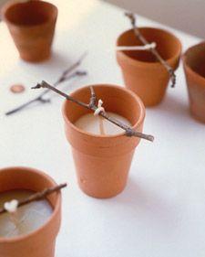 DIY Candles in a pot