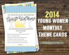 FREEBIE – April 2014 YW Monthly Theme Card. A great way to inspire your young women to focus on the monthly theme and work on related personal progress goals.