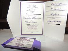 Diy Pocketfold wedding invitation