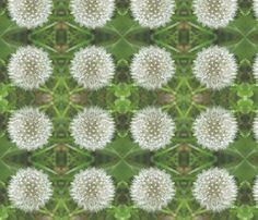 Dandelion fabric by nezumiworld on Spoonflower - custom fabric