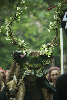 squar, london, halloween costumes, beltane, greenman